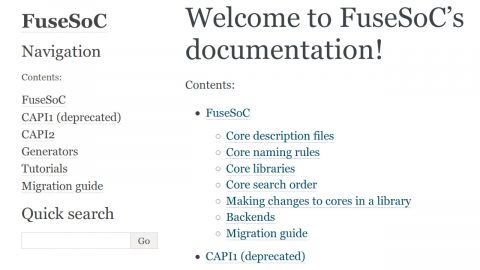 FuseSoC Documentation